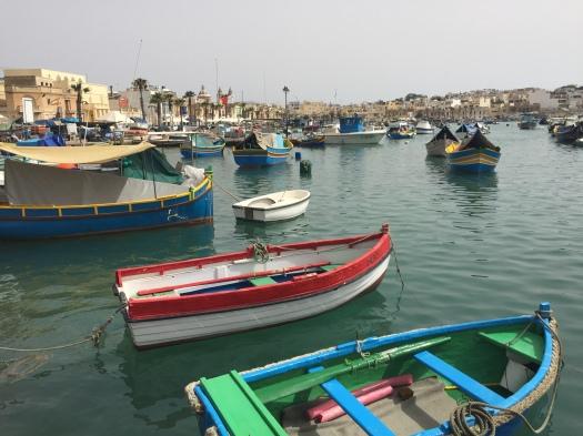 Marsaxlokk, fishing village, fishing boats, Malta, luzzu
