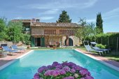 Villa, Tuscany, swimming pool, sun loungers