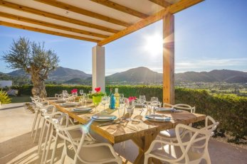 Villa, Ibiza, alfreso dining, table for 12