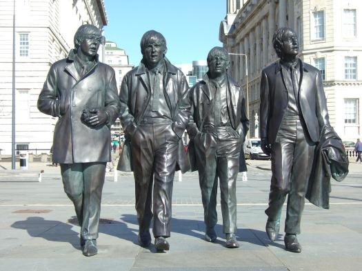Beatles sculpture in Liverpool