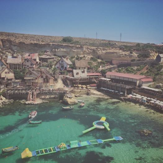 Popeye Village, Malta, sunbathing spots in Malta
