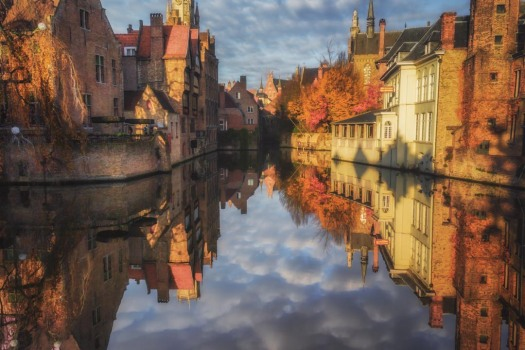 Bruges reflections; canal