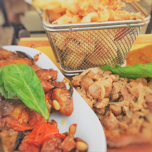 Seafood, calamari, tuna, swordfish