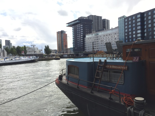 Why stay in a boring hotel when you can spend your weekend on a barge? Here's a quick look at our Rotterdam Airbnb experience!