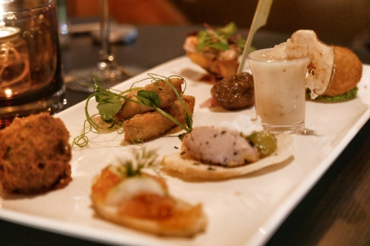 A selection of canapes at The Green House pub, Sutton Coldfield
