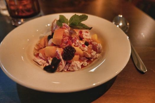The Green House Pub, Sutton Coldfield: Mango, berry & coconut meringue mess